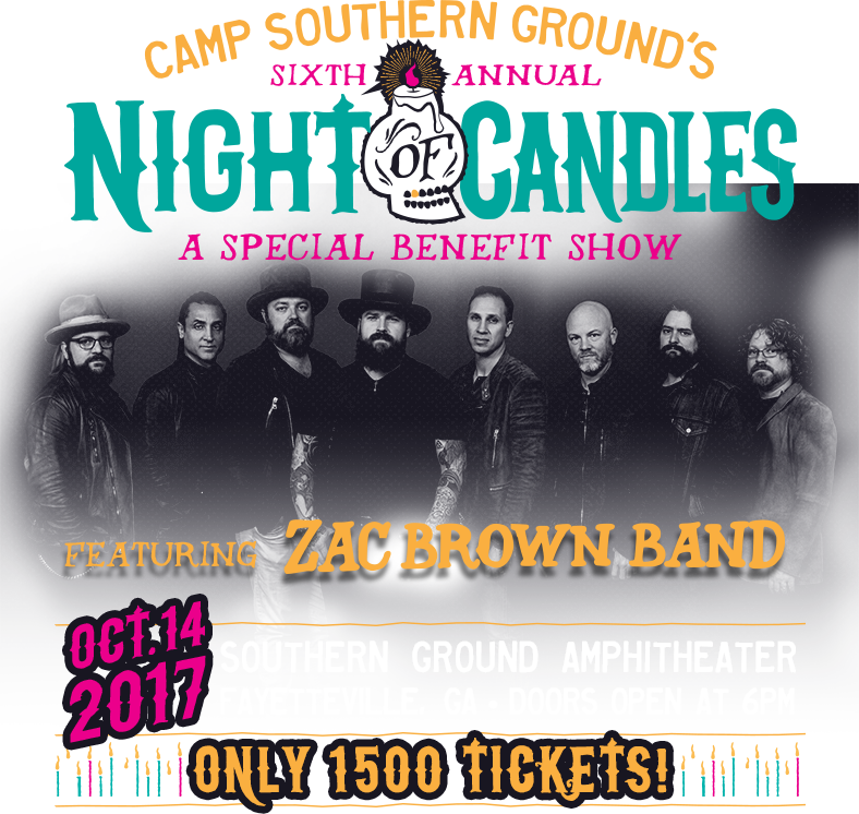 Camp Southern Ground's Sixth Annual Night of Candles. A special benefit show.